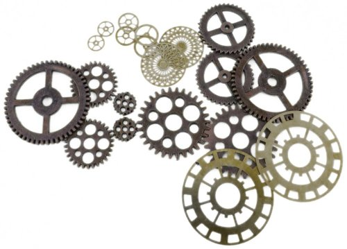 Forum Novelties Men's Steampunk Victorian Bag Of Gears Costume Accessory, Multi Colored, One -
