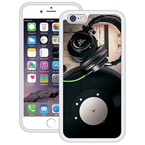 DJ Kopfhörer | Handgefertigt | iPhone 6 6s (4,7') | Weiß TPU Hülle