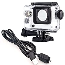 Motorcycle Kit Waterproof Case + Car Charger for Sports Camera SJCAM SJ4000 series,OEM SJ6000/SJ7000/SJ8000/SJ9000 Series on Motorcycle(Lite Edition)