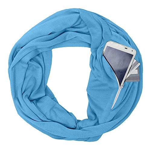 Sciarpa Autunno in Blu Sciarpa maniche collo con lana Vogue rinforzata lana busta arco doppia Angelof Sciarpa lunghe con invernale in Lungo Inverno senza convertibile PwpZ8xq1