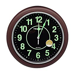 UPIT Luminous Non-Ticking Wall Clock 33cm (13inch)