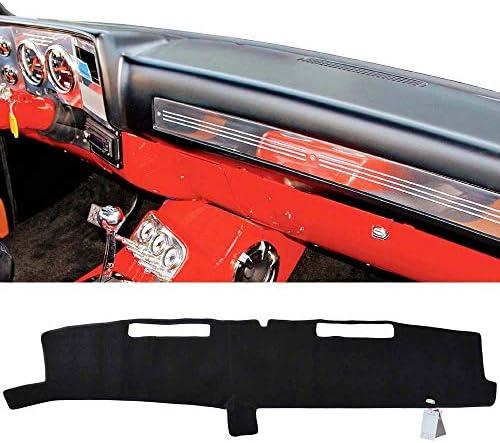 Black Custom made Premium Carpet Dash Cover Mat for 1981-1987 GMC Sierra Fullsize Pickup