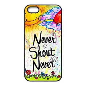 iPhone 5S Protective Case - Never Shout Never Hardshell Carrying Case Cover for iPhone 5 / 5S
