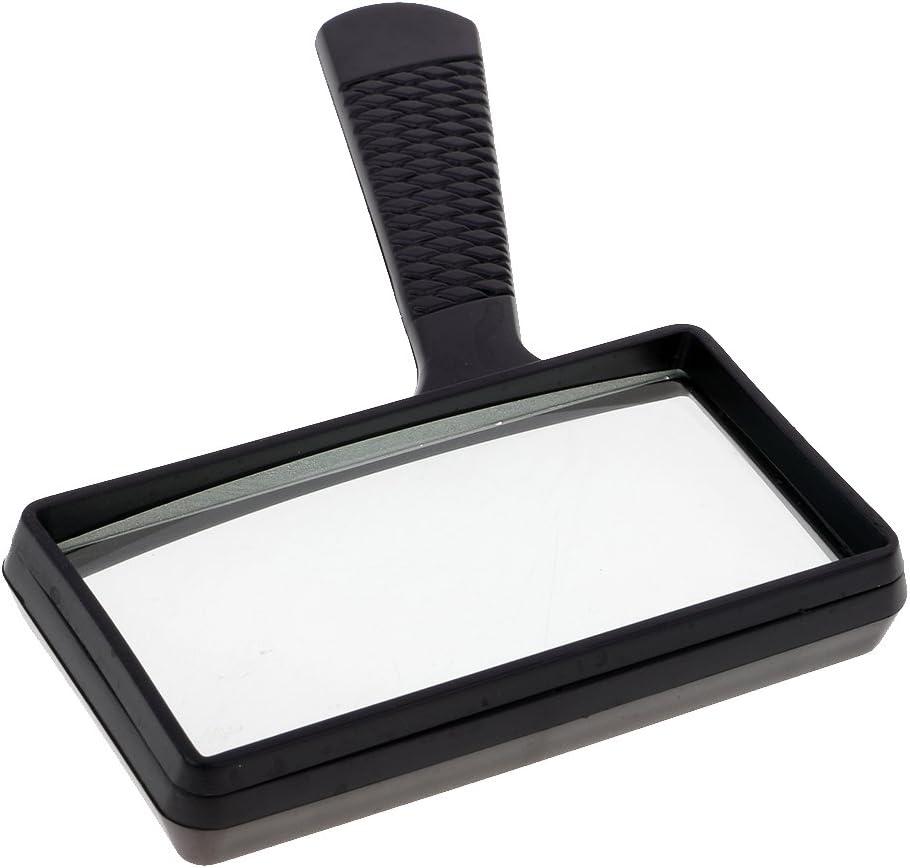 LoveinDIY Large 100mm 3X Rectangular Magnifier Reading Magnifying Glass Reading Tool