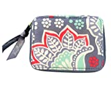 Vera Bradley Travel Pill Case in Nomadic Floral Solid Grey Lining