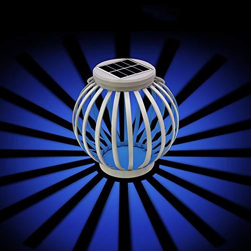 (Solar Lantern Hanging Lights Outdoor,AVEKI LED Color Changing Solar Garden Lights with Hanging Hook Waterproof Night Table Lamps for Patio Garden Yard Lawn Path Decor (White))