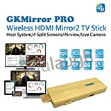 EZCast GKMirror PRO Dongle Wireless Presentation Smart TV Stick High Speed MIMO 2T2R WiFi HDMI, Supports 4 to 1 Split Screens