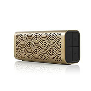BRAVEN LUX Portable Wireless Bluetooth Speaker [12 Hr Playtime][Water Resistant] Built-In 1400 mAh Power Bank Charger - Gold