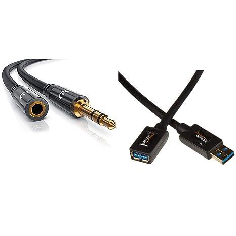 3,5 mm Klinke Stecker zu Buchse PC Jack Audio AUX Verlängerung Kabel 1m