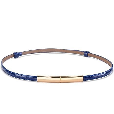 24975c3a8 YUEER Señoras Faldas Cinturones Moda Charol Modelos De Las Señoras  Cinturones Colores Dulces Hebillas Finos Longitud