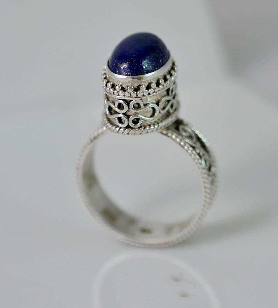 Lapis Lazuli Ring Lapis Lazuli Silver Ring Silver Ring Blue Ring Size 3-14 US Gemstone Ring 925 Sterling Silver Lapis Silver Ring