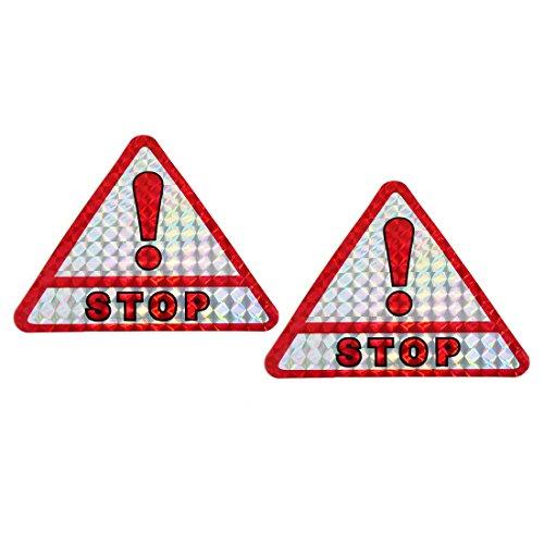 sourcingmap rouge slive ton stop imprim ruban adh sif autocollant voiture triangle. Black Bedroom Furniture Sets. Home Design Ideas