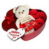 Sky Trends Valentine'S Day Gifts Teddy Bear With Valentine'S Special Greeting Card St-0015