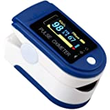 mimagogo Oxímetro de Dedo Monitor de saturación de oxígeno Monitor de oxígeno en Sangre Pulso de Dedo Bajo Voltaje de…