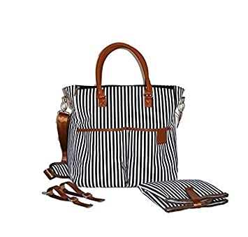 designer tote diaper bags u8o0  Designer Tote Diaper Bag for Girls and Boys with Baby Changing Pad Insert  by Henry and