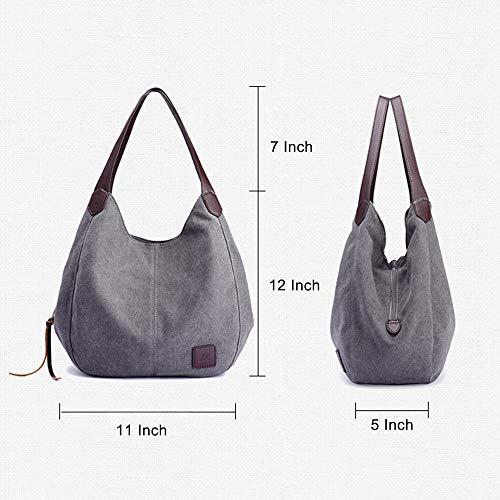 Tote Hobo Shoulder Handbag Bag Black Bag TM KISS Shopping GOLD Canvas wq6gg1