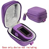 Protective and Carrying Case for Fingertip Pulse Oximeter Purple