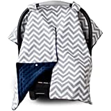 2 in 1 Carseat Canopy and Nursing Cover Up with Peekaboo...