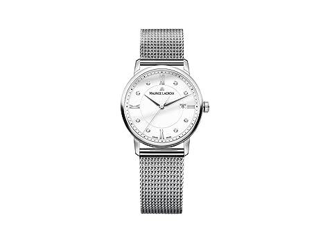 El1094 Quarz Edelstahl Analog Uhr Mit Maurice Lacroix Damen Armband wm8vn0ON