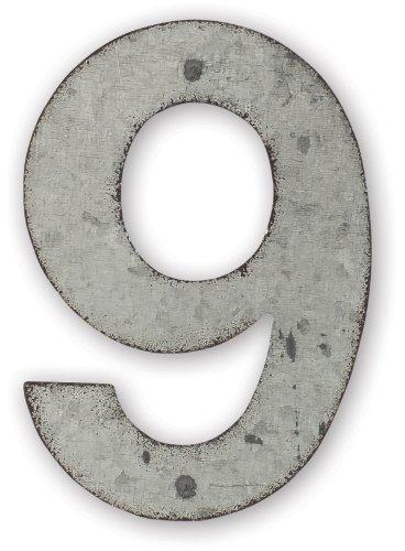 Moose House Plaque (Sunset Vista Design Studios Magnetic 4-Inch Metal Address Tile, Number 9)