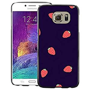 Red-Dwarf Colour Printing Strawberry Summer Berries Purple Red - cáscara Funda Case Caso de plástico para Samsung Galaxy S6 SM-G920