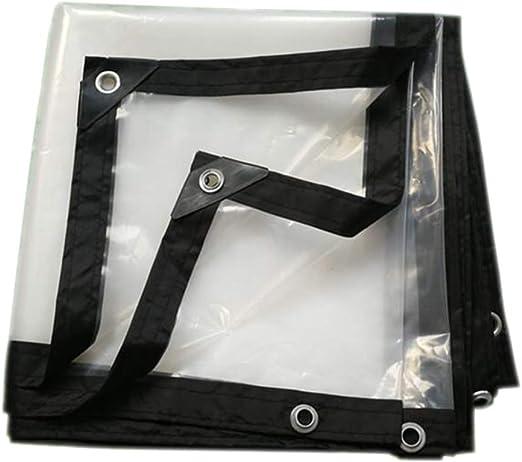YSHCA Lonas Transparente, Lona Pesada Impermeable con Ojales y Bordes Reforzados Plegable Lona Alquitranada Jardín De Efecto Invernadero Tamaño Personalizado,20x23ft(6x7m): Amazon.es: Hogar
