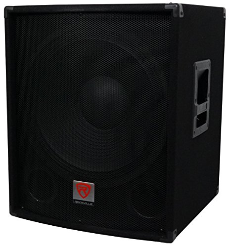 Rockville SBG1184 18'' 1000 Watt Passive 4-Ohm Pro DJ Subwoofer, MDF/Pole Mount by Rockville