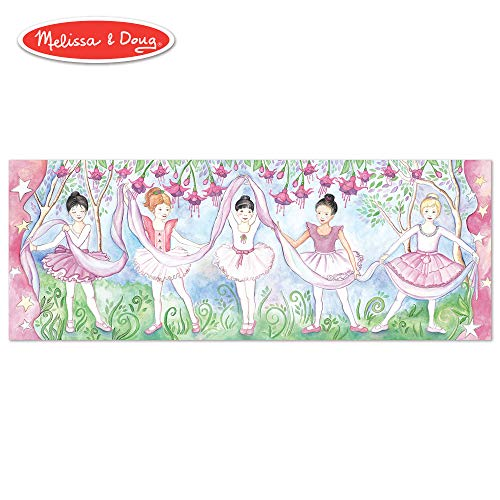Melissa & Doug Bella Ballerina Floor Puzzle (Easy-Clean Surface, Promotes Hand-Eye Coordination, 48 Pieces, 50