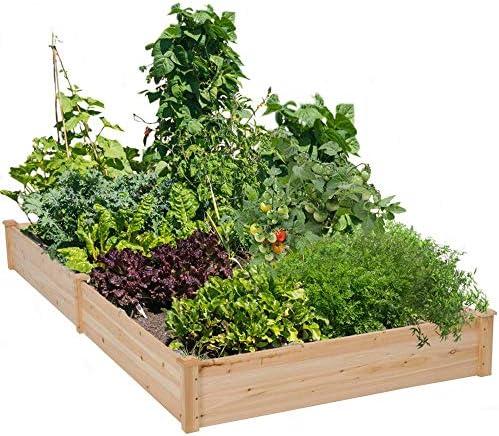 Cyanhope - Juego de Cama elevada de Madera para jardín, Maceta elevada para Verduras, Flores, Hierbas y Frutas: Amazon.es: Jardín