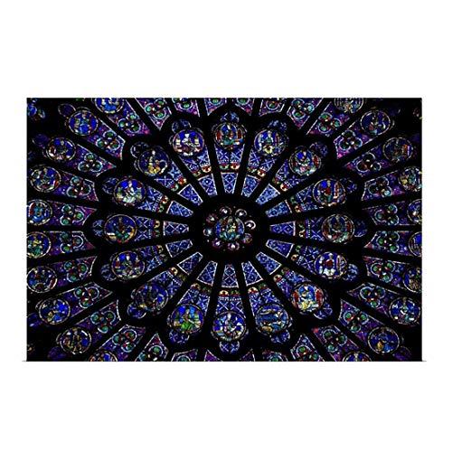 Soft Sheepskin Rug Dining Room Carpet Notre Dame de Paris Bath Mat Hallway Doormat, 16X24 inch Carpet/Anti - Slip/Water Absorb/Comfort/Rugs Decoration Bedroom Living Room Children's Room