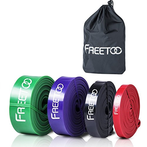 FREETOO Best Workout Rubber Band Resistance Bands (Exercise Rubber Bands)