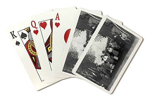 [Theatre Actors in a Western on Stage in Costume (Playing Card Deck - 52 Card Poker Size with Jokers)] (Las Vegas National Costume)