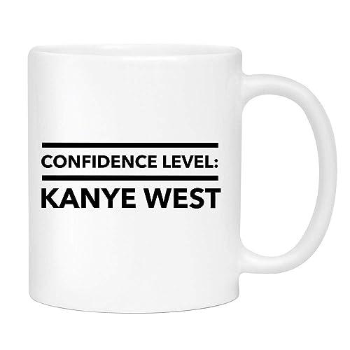 Amazoncom Confidence Level Kanye West Coffee Mug Cute Sarcastic