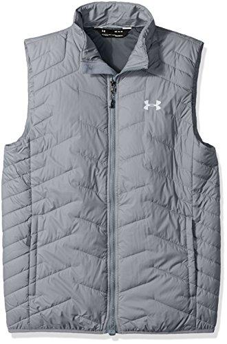 Under Armour Outerwear Armour Men's ColdGear Reactor Vest, True Gray Heather (025)/White, Large