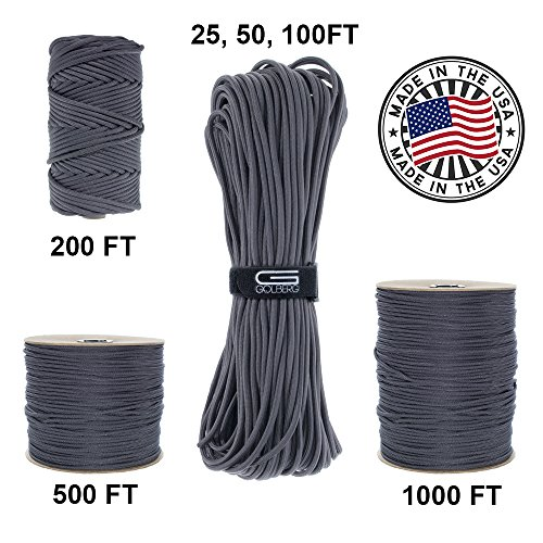 GOLBERG 750lb Paracord / Parachute Cord – US Military Grade – Authentic Mil-Spec Type IV 750 lb Tensile Strength Strong Paracord – Mil-C-5040-H – 100% Nylon – Made in USA by GOLBERG G (Image #7)