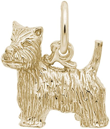 Rembrandt Charms Yellow Gold West Highland Terrier Dog Charm