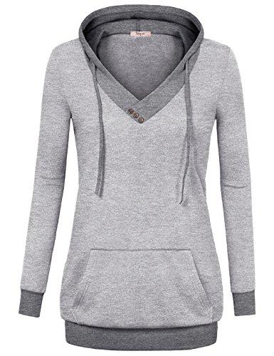 Timeson Womens Pullover Hoodies Kangaroo product image