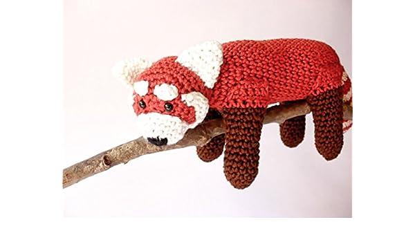 PDF Red Panda amigurumi CROCHET PATTERN | Etsy | 350x600