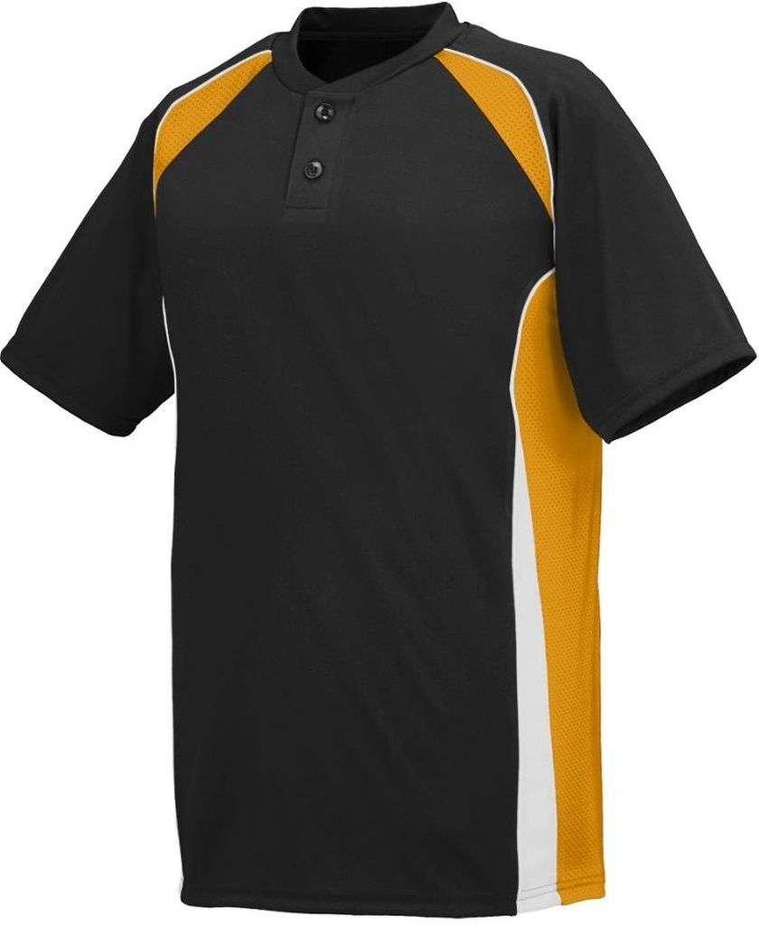 Augusta SportswearメンズベースHit Baseball Jersey B00HJTM0SK XX-Large|ブラック/ゴールド/ホワイト ブラック/ゴールド/ホワイト XX-Large