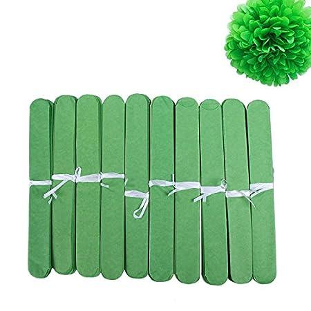 Alftek 10/pcs//Lot de Mariage Faite Main Boule de Fleurs de Papier Pompons pour Mariage Home Baby Shower D/écoration 8inch Blanc