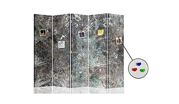Feeby Separador Foto Corcho Mármol Piedra 5 Paneles Unilateral Abstracción Gris 180x175 cm: Amazon.es: Hogar