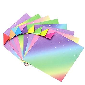 600 feuilles carrées multicolores Origami Paper Craft Art Origami Papier double face