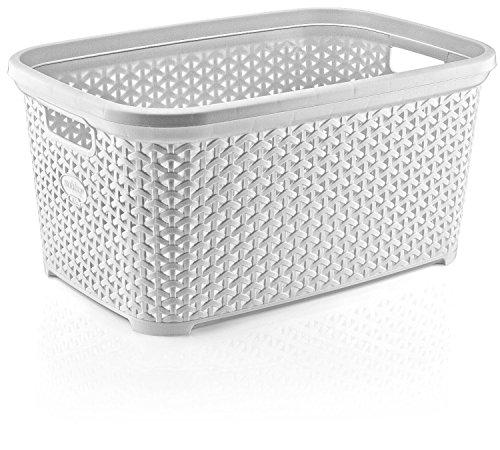 Wicker Rattan Style 35lt 1 Bushel Landry Basket Made In Turkey White By Hobby Life Amazon In Home Kitchen