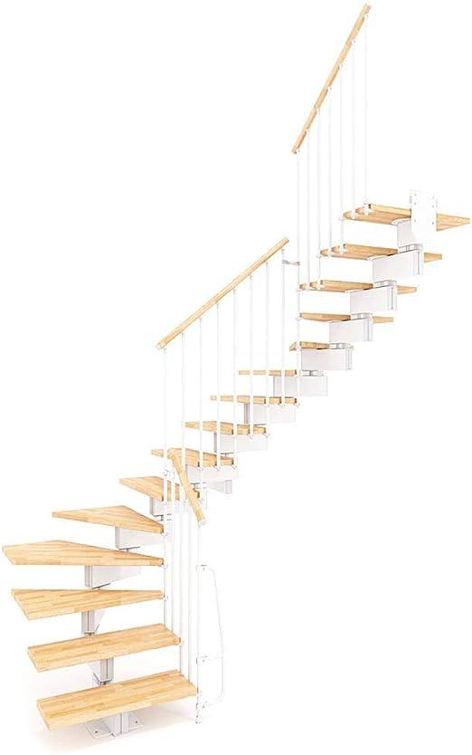 Escalera de rampa modular en forma de U con soporte para bolígrafo, natural y blanco, varios tamaños: Amazon.es: Bricolaje y herramientas