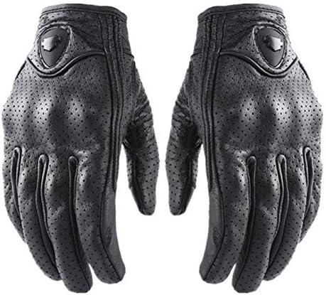 手袋 日常 実用 ユニセックスレザー手袋通気性タッチスクリーンオートバイレーシンググローブ (Color : Venting hole, Size : XL)