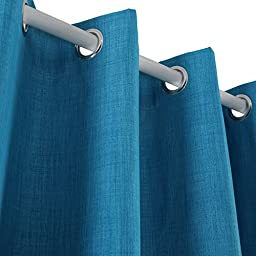 Deconovo Thermal Insulated Blackout Curtains Grommet Curtain Panels with Coating Back Layer Curtains for Nursery Room 52 Inch By 63 Inch 1 Pair Blue