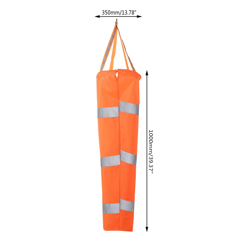 zrshygs Windsock Pole 80/100 / 150CM Aviation Riflettente Belt Manica a Vento all'aperto Rip-Stop Wind Sock Bag 80CM