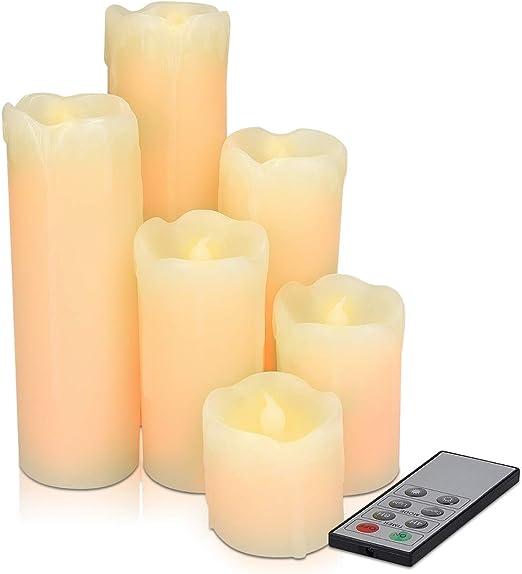 Lot de 6 bougies