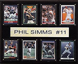 NFL New York Giants Phil Simms Plaque (8-Card), 12 x 15-Inch