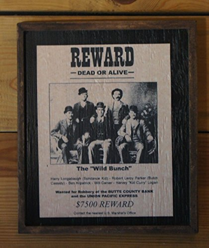Framed Vintage Wanted Poster of the Wild Bunch by Wooden Crow Company